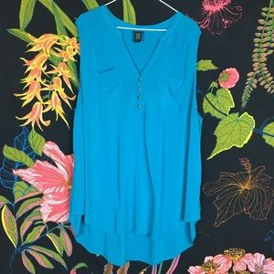 TORRID / Blue Tunic Blouse